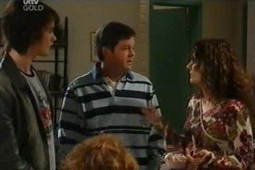 Luka Dokic, David Bishop, Liljana Bishop in Neighbours Episode 4608