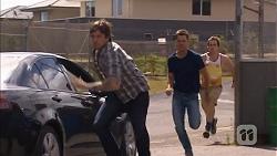 Stephen Montague, Mark Brennan, Kyle Canning in Neighbours Episode 6831
