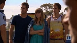 Matt Turner, Mark Brennan, Danni Ferguson, Kyle Canning, Stephen Montague in Neighbours Episode 6831