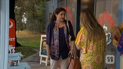 Patricia Pappas, Sonya Mitchell in Neighbours Episode 6834