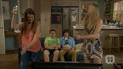 Josie Lamb, Callum Jones, Bailey Turner, Josie Mackay in Neighbours Episode 6834