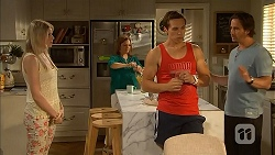 Lauren Turner, Terese Willis, Josh Willis, Doug Willis in Neighbours Episode 6835