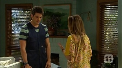 Chris Pappas, Sonya Mitchell in Neighbours Episode 6835