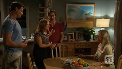 Matt Turner, Terese Willis, Brad Willis, Lauren Turner in Neighbours Episode 6838