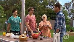 Chris Pappas, Kyle Canning, Sheila Canning, Mark Brennan in Neighbours Episode 6838