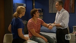Georgia Brooks, Kyle Canning, Karl Kennedy in Neighbours Episode 6839