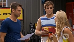Mark Brennan, Kyle Canning, Georgia Brooks in Neighbours Episode 6842