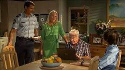 Matt Turner, Lauren Turner, Lou Carpenter, Bailey Turner in Neighbours Episode 6848