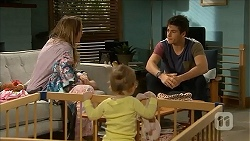 Sonya Mitchell, Nell Rebecchi, Chris Pappas in Neighbours Episode 6850