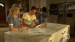 Amber Turner, Josh Willis, Imogen Willis in Neighbours Episode 6850