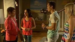 Susan Kennedy, Imogen Willis, Josh Willis, Amber Turner in Neighbours Episode 6850