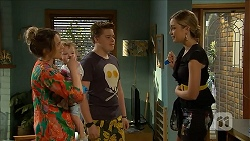 Sonya Mitchell, Nell Rebecchi, Callum Jones, Talia Maslin in Neighbours Episode 6851