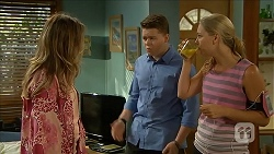 Sonya Rebecchi, Callum Rebecchi, Georgia Brooks in Neighbours Episode 6852