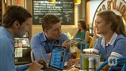 Josh Willis, Callum Rebecchi, Josie Lamb in Neighbours Episode 6852