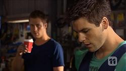 Mark Brennan, Chris Pappas in Neighbours Episode 6853