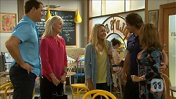 Matt Turner, Lauren Turner, Lisa Tucker, Brad Willis, Terese Willis in Neighbours Episode 6854
