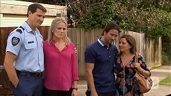 Matt Turner, Lauren Turner, Brad Willis, Terese Willis in Neighbours Episode 6854