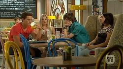 Josh Willis, Lauren Turner, Bailey Turner, Imogen Willis in Neighbours Episode 6855