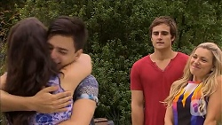Kate Ramsay, Zeke Kinski, Kyle Canning, Georgia Brooks in Neighbours Episode 6856