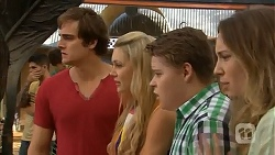 Kyle Canning, Georgia Brooks, Callum Rebecchi, Sonya Rebecchi in Neighbours Episode 6857