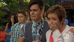 Callum Rebecchi, Zeke Kinski, Susan Kennedy in Neighbours Episode 6857