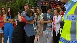 Sophie Ramsay, Paul Robinson, Callum Rebecchi, Sonya Rebecchi, Zeke Kinski, Susan Kennedy, Kyle Canning in Neighbours Episode 6857