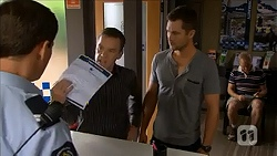 Matt Turner, Paul Robinson, Mark Brennan in Neighbours Episode 6858