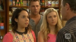 Imogen Willis, Mark Brennan, Georgia Brooks, Paul Robinson in Neighbours Episode 6858