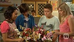 Imogen Willis, Bailey Turner, Callum Jones, Amber Turner in Neighbours Episode 6859