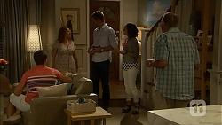 Josh Willis, Terese Willis, Mark Brennan, Imogen Willis, Doug Willis in Neighbours Episode 6865
