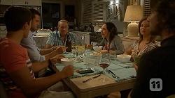 Josh Willis, Mark Brennan, Doug Willis, Imogen Willis, Terese Willis, Brad Willis in Neighbours Episode 6865