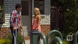 Chris Pappas, Georgia Brooks in Neighbours Episode 6866