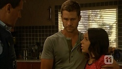 Matt Turner, Mark Brennan, Imogen Willis in Neighbours Episode 6869