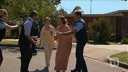 Snr. Const. Kelly Merolli, Toadie Rebecchi, Susan Kennedy, Sonya Rebecchi, Matt Turner in Neighbours Episode 6870