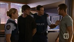 Snr. Const. Kelly Merolli, Stephen Montague, Matt Turner, Mark Brennan in Neighbours Episode 6870