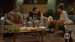Toadie Rebecchi, Callum Rebecchi, Sonya Rebecchi in Neighbours Episode 6870