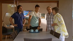 Brad Willis, Josh Willis, Doug Willis, Pam Willis in Neighbours Episode 6876