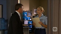 Paul Robinson, Snr. Const. Kelly Merolli in Neighbours Episode 6877