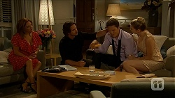 Terese Willis, Brad Willis, Josh Willis, Amber Turner in Neighbours Episode 6880
