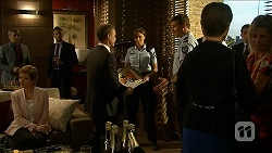 Susan Kennedy, Paul Robinson, Matt Turner in Neighbours Episode 6880