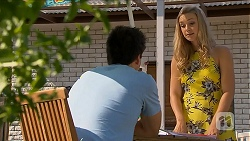 Chris Pappas, Georgia Brooks in Neighbours Episode 6881