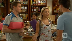 Will Dampier, Georgia Brooks, Chris Pappas in Neighbours Episode 6881