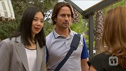 Tracey Wong, Brad Willis, Terese Willis in Neighbours Episode 6882