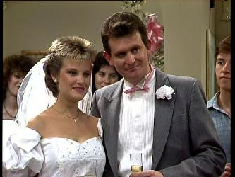 Daphne Clarke, Des Clarke, Mike Young in Neighbours Episode 0296