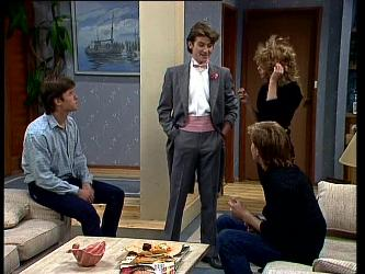 Mike Young, Danny Ramsay, Scott Robinson, Charlene Mitchell in Neighbours Episode 0296