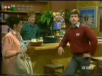 Kate Gibbons, Clive Gibbons, Mike Young in Neighbours Episode 0299
