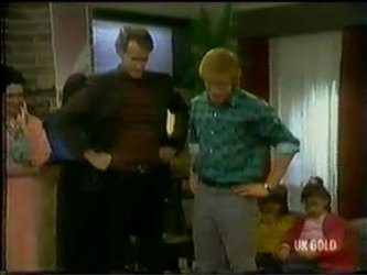Kate Gibbons, Graham Gibbons, Clive Gibbons, Lucy Robinson in Neighbours Episode 0300