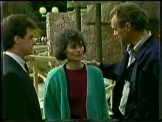 Paul Robinson, Ruth Wilson, Jim Robinson in Neighbours Episode 0332