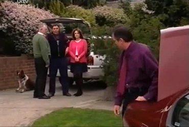Harvey, Harold Bishop, Joe Scully, Lyn Scully, Karl Kennedy in Neighbours Episode 4420