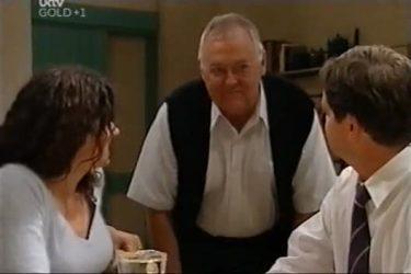 Liljana Bishop, Harold Bishop, David Bishop in Neighbours Episode 4423